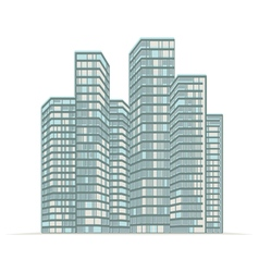 High rise buildings city vector