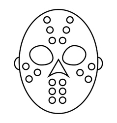 Hockey mask icon outline style vector