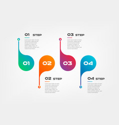 Horizontal steps timeline gradient infographics vector