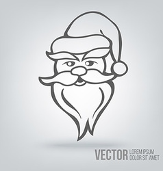 Icon Santa Claus isolated black on white vector image