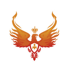 imperial phoenix image vector image