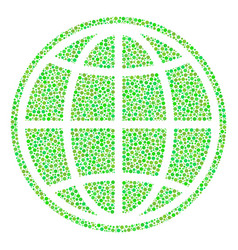 Internet composition of small circles vector
