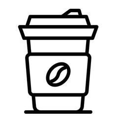 Latte hot drink icon outline style vector