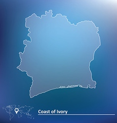 Map of Coast of Ivory vector image