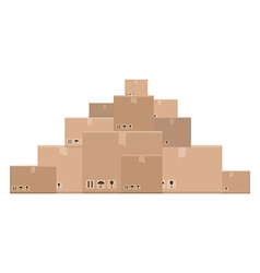 Mountain of boxes vector
