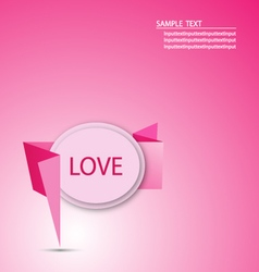 Origami Paper Message love Graphic vector image