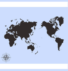 Pacific centred world political map vector
