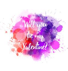 pink and purple valentine splash vector image vector image