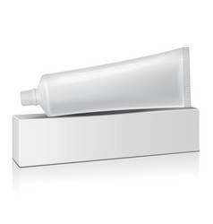 Plastic tube with white box for medicine or vector