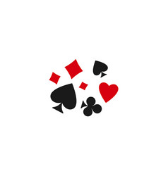 Poker playing cards suits symbols - spades hearts vector
