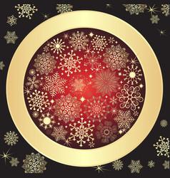 purple christmas vintage frame vector image