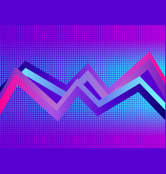 Retro futurism background pop art dots with vector