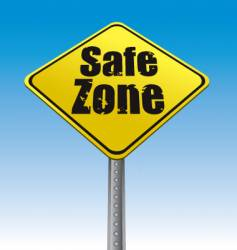 Road sign safe zone illustration vector