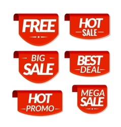 Sale tags labels special offer hot sale best vector