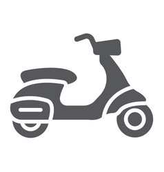 Scooter glyph icon transport and drive motorbike vector