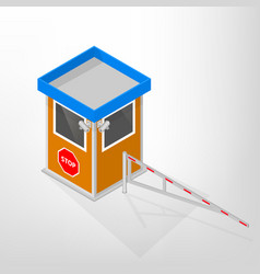 security lodges with a mechanical barrier vector image