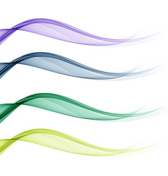 set backgrounds with abstract color waves vector image