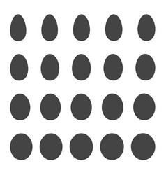 set egg shape set egg patterns vector image