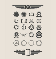 set of industrial design elements vector image