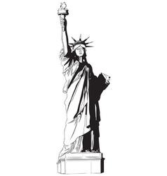statue liberty icon vector image