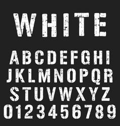 stencil alphabet font template vector image