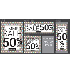 summer sale template banner with pastel color vector image