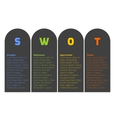 SWOT Business Infographic Diagram vector image vector image
