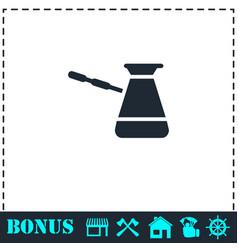 turkish coffee icon flat vector image