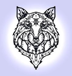 Wild wolf tattoo vector image