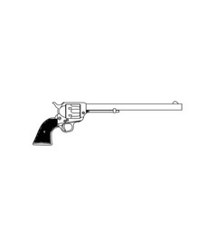 wyatt earpl six gun vector image
