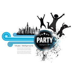 abstract vintage background for party vector image vector image