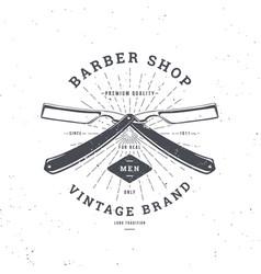 barber shop double razor vector image vector image