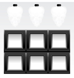 empty six frames vector image vector image