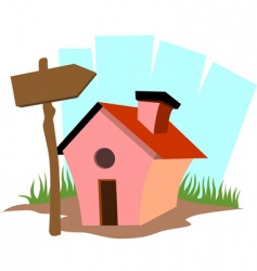 mini house vector image