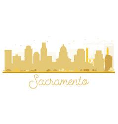 sacramento city skyline golden silhouette vector image vector image