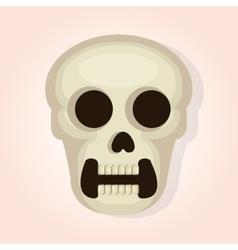 skull head dead day vector image