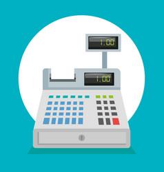 supermarket cash register icon vector image
