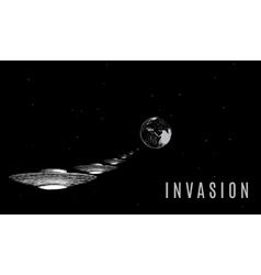 Ufo invader invation vector image