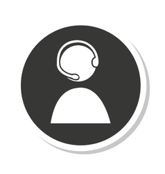 call center agent silhouette vector image