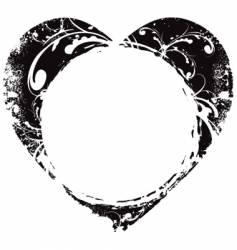 grunge Valentine's heart frame vector image vector image