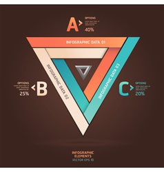 Modern infographic infinite triangle origami style vector image vector image