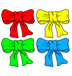 bow knot set vector image vector image
