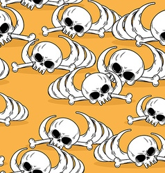 Dead desert seamless pattern Remains of skeleton vector image