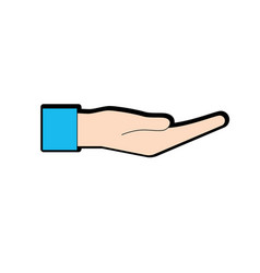 Hand gesture with fingers icon design vector