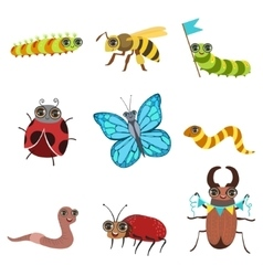 Insect Cartoon Images Set vector image vector image