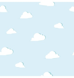 Abstract paper clouds seamless pattern vector image vector image
