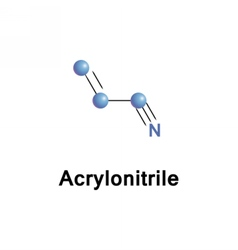 Acrylonitrile organic toxic vector image vector image