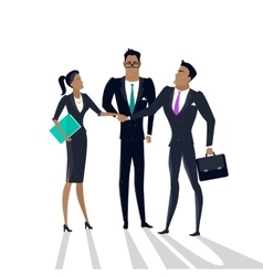 Business Cooperation Concept in Flat Style vector image vector image