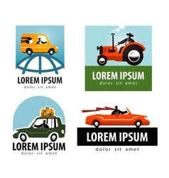 car logo design template tractor or vector image vector image