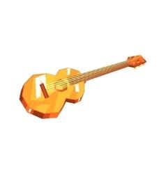 Classic wooden guitar music instrument vector